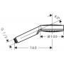 Ручной душ Crometta 1jet, EcoSmart 9 л/мин, белый/хром  Hansgrohe 26333400