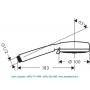 Ручной душ 3 вида струи Crometta 100 Hansgrohe 26823400