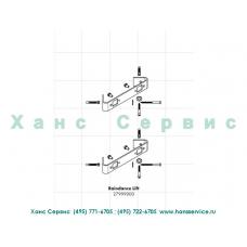 Угловой монтажный набор для душевой панели Raindance Lift Hansgrohe 27999000
