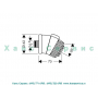 Боковая массажная форсунка Aktiva для душевой системы скрытого монтажа Hansgrohe 28451000