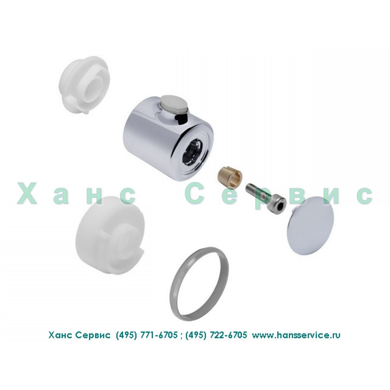 Рукоятка термостатического смесителя Ecostat, цвет хром/серый Hansgrohe 96618000